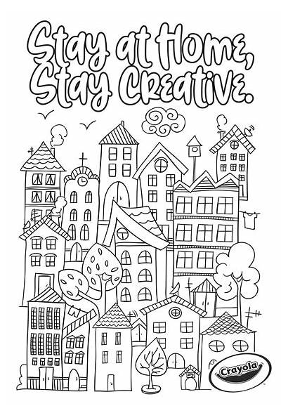Stay Coloring Town Creativity Crayola Colouring Posters