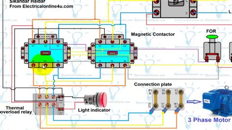wire   phase motor diagram electrical website