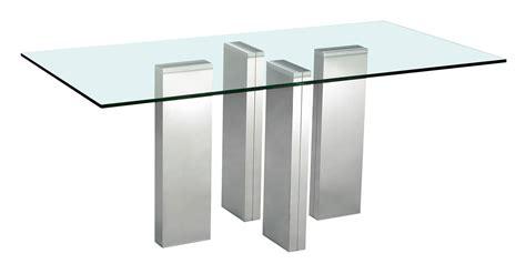 table a manger en verre trempe table de salle 224 manger brick en verre tremp 233 et acier chrom 233