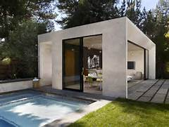 Modern Houses With Pool New Construction Of Contemporary Pool Poolhouse Gardens