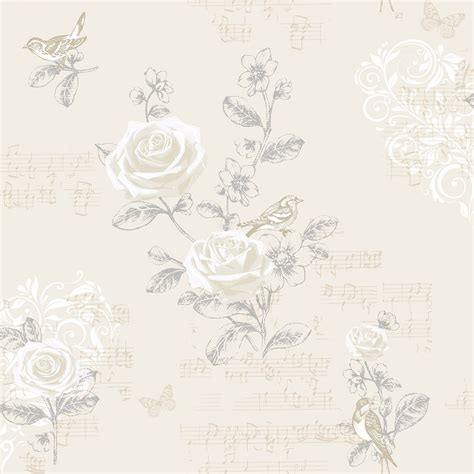wallpaper shabby chic cream shabby chic jenny wren wallpaper the shabby chic guru