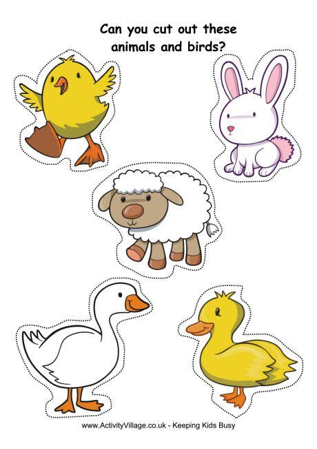 farm animals cut outs cut outs practice farm animals family