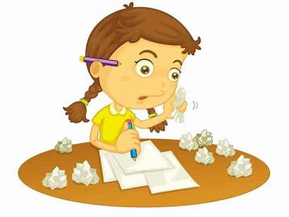 Letter Writing Write Clipart Cartoon Child Clip