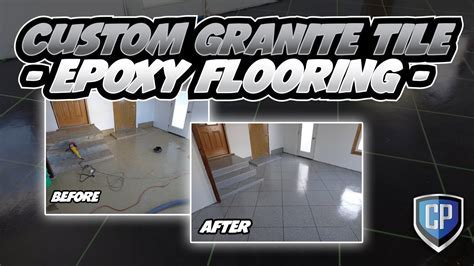 Custom Granite Tile   Epoxy Flooring   YouTube