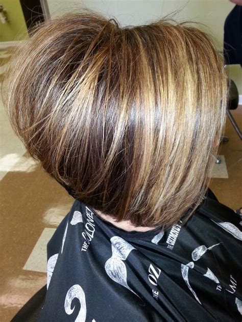 Inverted Bob a line cut This model is over 50 Trendy
