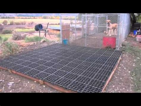 outdoor kennel flooring ideas eco grid kennel
