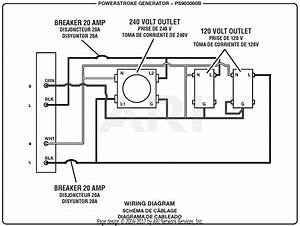 Homelite Ps905000b Powerstroke 5 000 Watt Generator Parts Diagram For Wiring Diagram