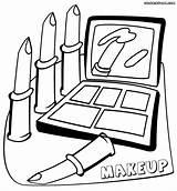 Makeup Coloring Pages Sheet Print Robinson Jackie Clipartmag Drawing sketch template