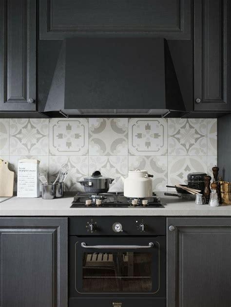 credence cuisine en carreaux de ciment cuisine mat et cuisine et blanche 48 inspirations