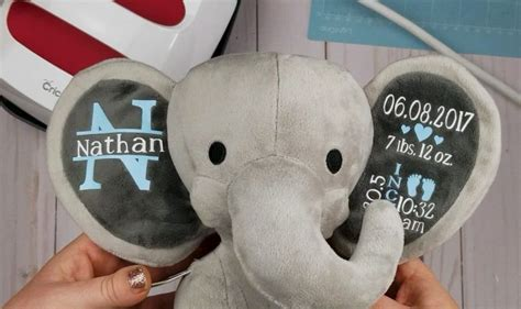 diy baby gifts     adorable birth stat elephant diy baby stuff diy baby gifts