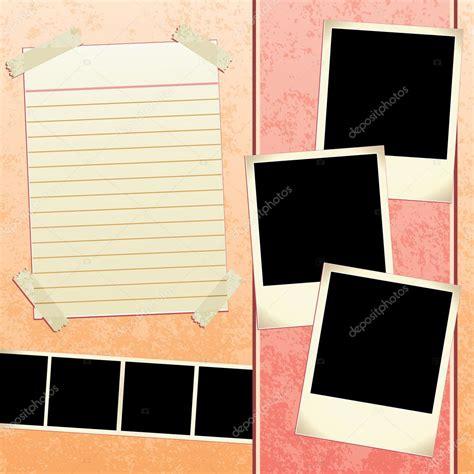 scrapbook template stock vector  joeiera
