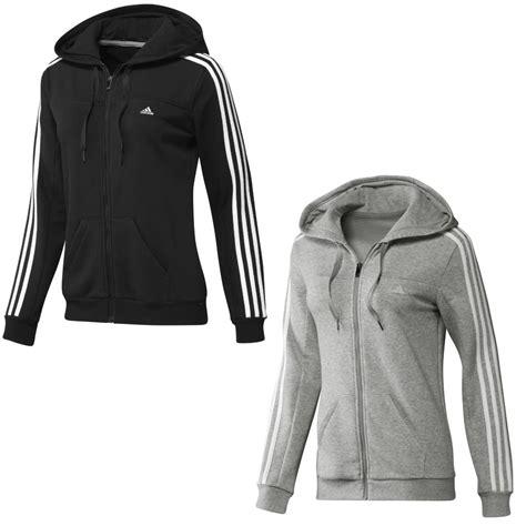 adidas essentials 3s hooded track top schwarz grau damen kapuze sweatshirt jacke ebay