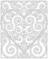Coloring Pages Pattern Adults Heart Abstract Mandala Swirl Fun Adult Hearts Teens Designs Patterns Colouring Printable Teen Colors Mandalas Swirly sketch template