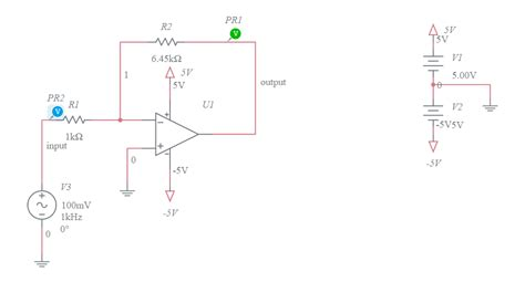Inverting Opamp Amplifier Multisim Live