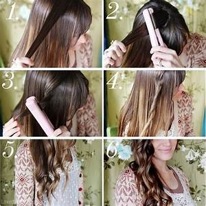 DIY Beach Waves With Hair Straightener Tutorial Pictures