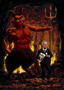 Tony Blair In Hell With Devil And Holding Weapons Of Mass ...