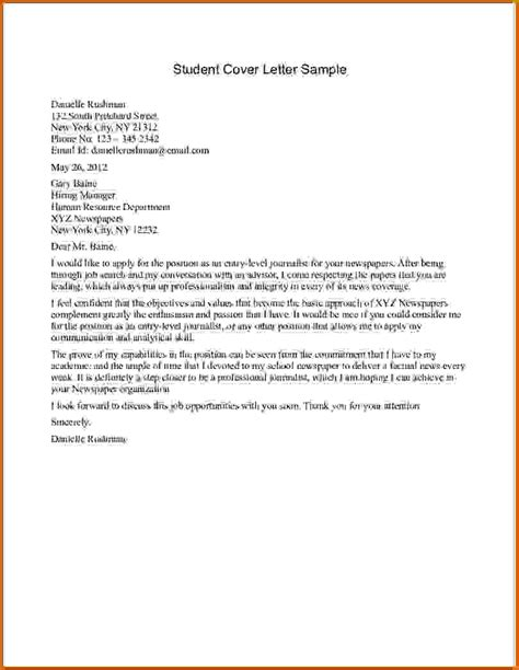 cover letter student cover letter exles learner 28 images resume cover