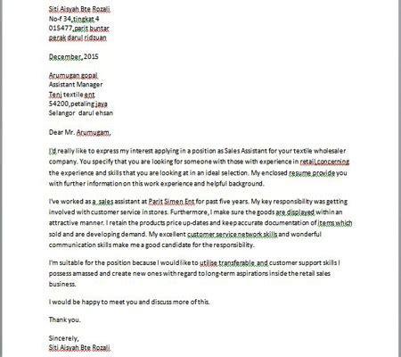 contoh surat permohonan kerja bahasa contoh resume