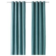 Sanela Curtains Light Turquoise by Waverly Pink Roses Fabric Shower Curtain W