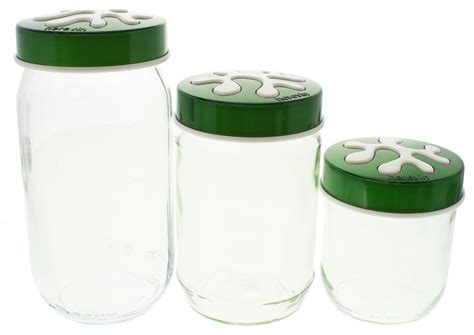 green kitchen canisters sets glass kitchen canister set green at mighty ape australia