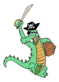 alligator pirate clip art image pirate clip art art