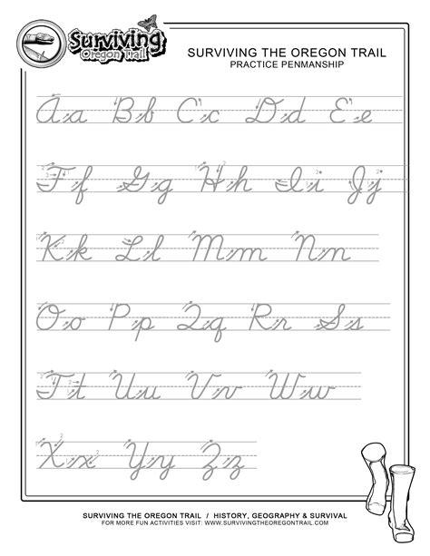 Alphabet handwriting practice work sheet stock photo. 5 Best Images of Printable Cursive Handwriting Practice Sheets - Cursive Writing Worksheets ...