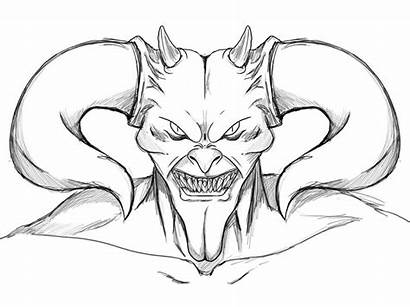 Scary Coloring Pages Devil Face Getdrawings