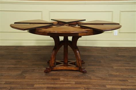 arts and crafts dining table solid walnut round arts and craft expandable dining table