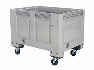 Box Mit Rollen : big box kunststoff palettenbox 1200 x 800 mm auf rollen ~ Markanthonyermac.com Haus und Dekorationen
