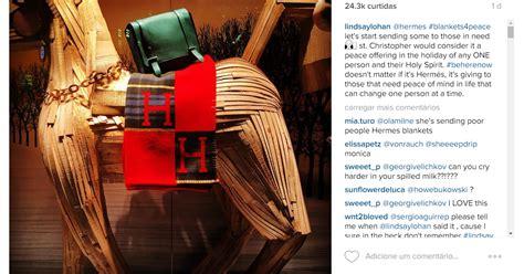 Lindsay Lohan lançou a campanha no Instagram e deixou ...