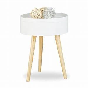 Beistelltisch Rund Weiß Holz : nachttische und andere tische von relaxdays online kaufen bei m bel garten ~ Bigdaddyawards.com Haus und Dekorationen