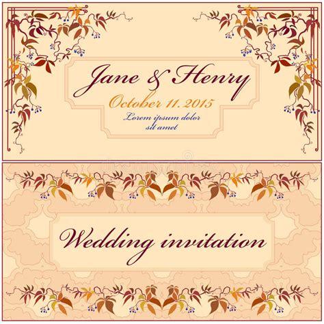 Wedding Invitation Card With Purple Iris Flower Background
