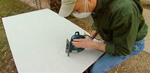 How to cut holes in cement backer board with a jigsaw for How to cut a hole in concrete floor