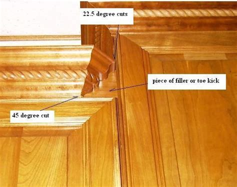 cutting crown molding for kitchen cabinets cabinet crown molding with bumped cabinets kitchen 9530