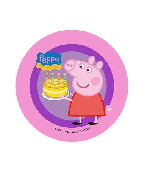 disque de p 226 te 224 sucre peppa pig avec g 226 teau d anniversaire 7