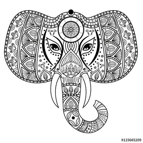 Flamingo Kop Kleurplaat by Quot Decorated Mandala Elephant For Coloring Book Testa
