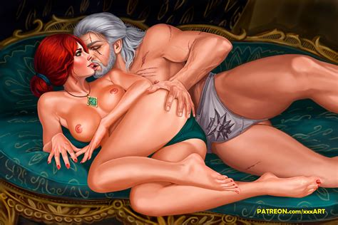 The Witcher Triss And Geralt Color By Rzhevskii Hentai