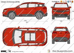 Citroen C5 Aircross Vector Drawing