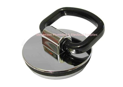 Bath  Kitchen Sink Plug Stopper With Pull Handle Chrome