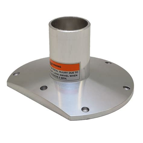 Boat Seat Pedestal Base by Hydra Sports Hs21070076 Polished 5 Inch Aluminum Boat Seat