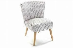 Pouf Scandinave Pas Cher : fauteuil blanc imprim g om trique prisme fauteuil design pas cher ~ Teatrodelosmanantiales.com Idées de Décoration