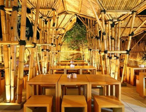 bamboo restaurant is a striking open air design