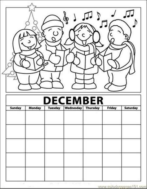 december coloring pages december calendar coloring page 171 funnycrafts