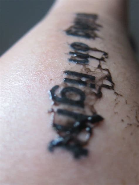 tattoo  leaking ink   normal