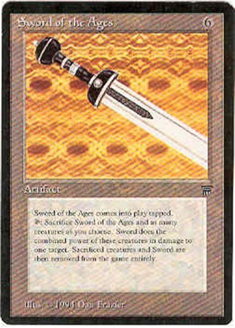 magic  gathering legends single sword   ages