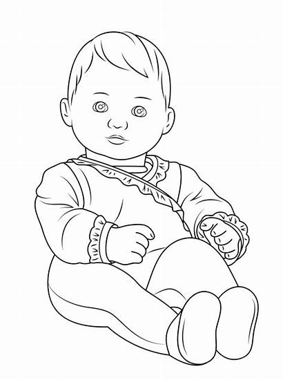 Coloring Doll Pages American