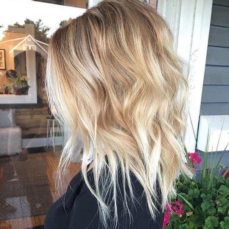 schulterlange blonde frisuren