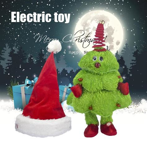 dancing christmas tree hat electric singing moving tree hat electric children s