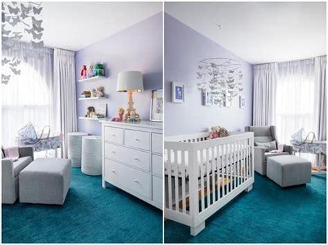 chambre et turquoise une chambre de bébé en lilas et turquoise