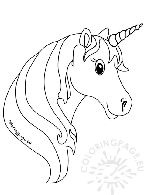 unicorn face coloring pages  kids coloring page